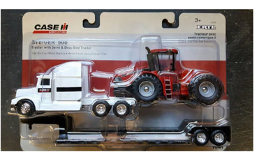 Ertl Case IH Semi Truck with Steiger 500 Tractor and Lowboy Trailer 44082