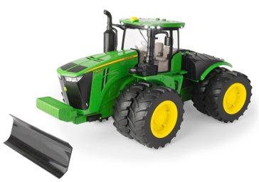Big Farm 1:16 Scale John Deere 9620R Tractor with Front Blade 46794