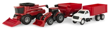 Ertl Case IH 1:64 Scale 4 Piece Toy Set 47004