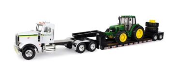 Ertl John Deere 1:16 Scale Dealership Semi Truck with 7430 Tractor and Trailer 46624
