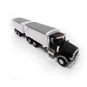 Ertl Big Farm1:16 Scale Peterbilt 367 Grain Truck with Pup Trailer