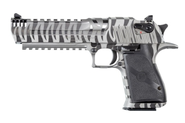 "Desert Eagle .50AE Semi-Automatic Pistol  6"" Barrel White Tiger Stripe"