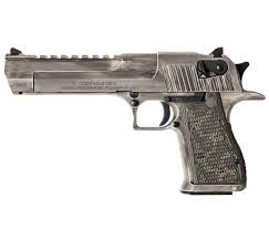 "Desert Eagle .50AE Semi-Automatic Pistol  6"" Barrel White Matte Distressed"