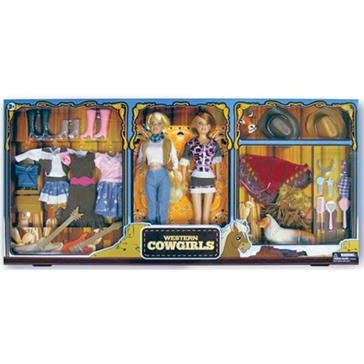 Harbour Trade Toys Twin Western Cowgirls Doll Set 8832