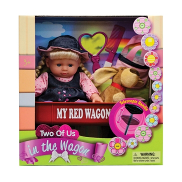 Kid Concepts My Red Wagon Doll Set KK12006