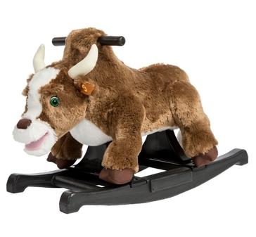 Tek Nek Rockin' Rider Brown Rocking Bull