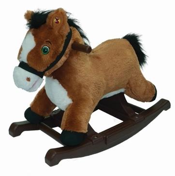 Tek Nek Rockin' Rider Brown Rocking Pony