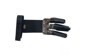 Allen Camo/Black Leather Archery Shooter 3 Finger Glove