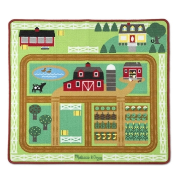 Melissa & Doug Round the Barnyard Farm Rug Playmat 9425