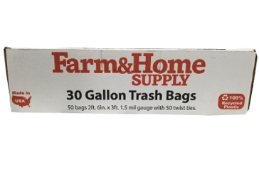 Farm & Home Supply 30 Gallon Trash Bags 50CT