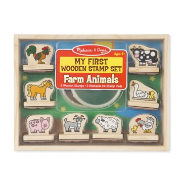 Melissa & Doug My First Wooden Stamp Set-Farm Animals
