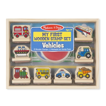 Melissa & Doug My First Wooden Stamp Set-Vehicles 2391