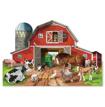 Melissa & Doug Busy Barn Yard Shaped Floor Puzzle - 32 Pieces