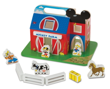 Melissa & Doug Mickey Mouse Clubhouse On the Farm Wooden Barn Set