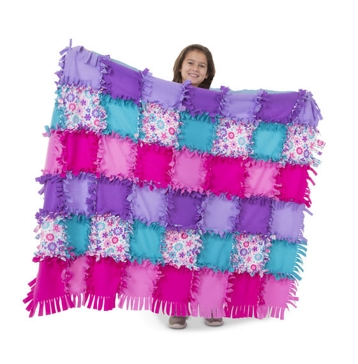 Melissa & Doug Created by Me! Flower Fleece Quilt