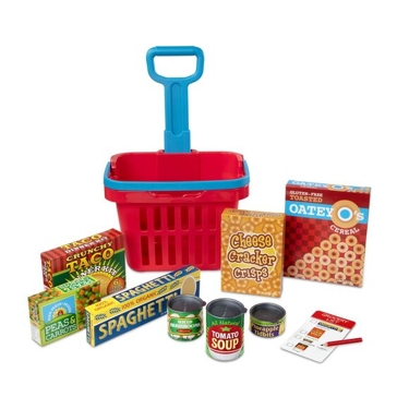 Melissa & Doug FIll and roll Grocery Basket Playset 4073