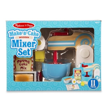Melissa & Doug Wooden Make-a-Cake Mixer Set 9840