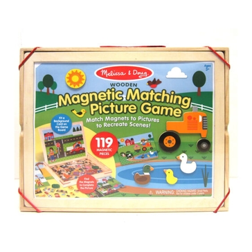 Melissa & Doug Wooden Magnetic Matching Picture Game 9918