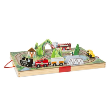 Melissa & Doug Take-Along Railroad 30140