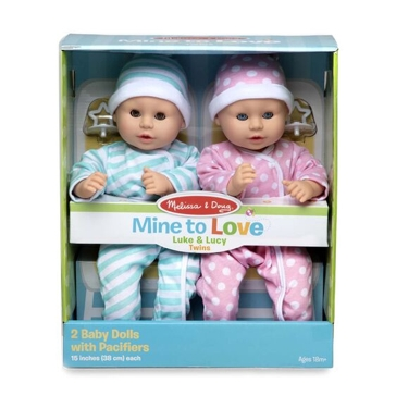 Melissa & Doug Mine to Love Twin Dolls-Luke & Lucy 31711
