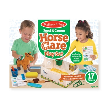 Melissa & Doug Feed and Groom Horse Care Play Set 8537
