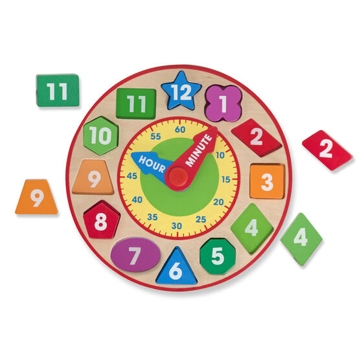 Melissa & Doug Shape Sorting Clock 8593