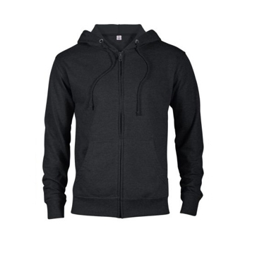 Delta Fleece Adult Unisex French Terry Zip Hoodie - Black