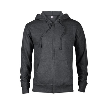 Delta Fleece Unisex French Terry Zip Hoodie - Charcoal