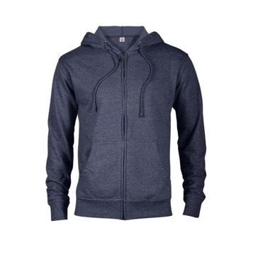 Delta Fleece Unisex French Terry Zip Hoodie - Denim Heather