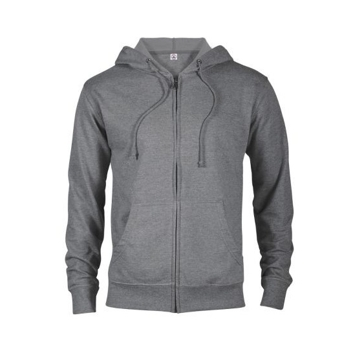 Delta Fleece Unisex French Terry Zip Hoodie - Graphite