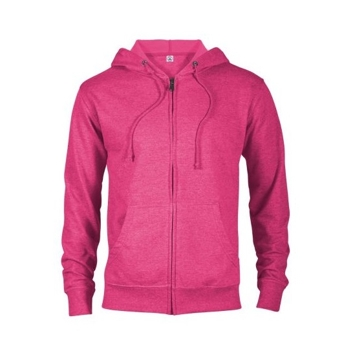 Delta Fleece Unisex French Terry Zip Hoodie - Pink