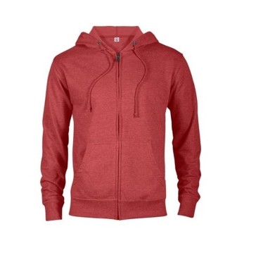 Delta Fleece Unisex French Terry Zip Hoodie - Red