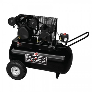 Black Diamond 20 Gallon Horizontal 1.6hp Air Compressor