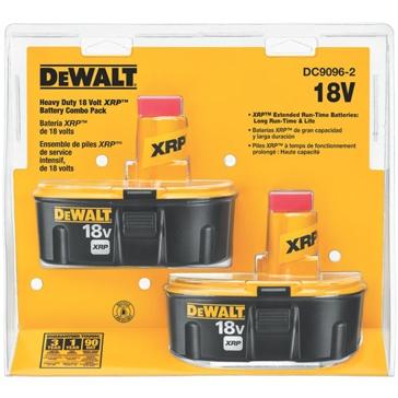 DeWALT 18V XRP Ni-Cad Battery Combo Pack DC9096-2