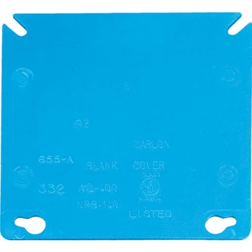 Thomas & Betts Blank Square Box Cover A400R-CAR