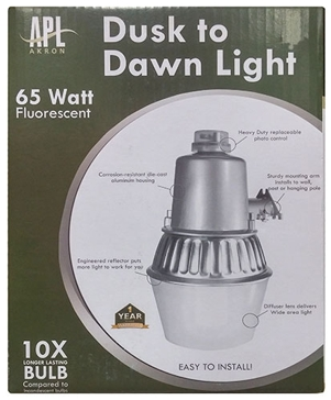APL Dusk-to-Dawn 65W Fluorescent Security Light