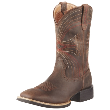Ariat Mens Sport Wide Square Toe Cowboy Boots
