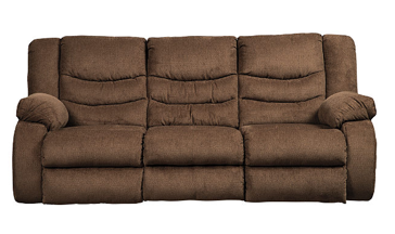 Ashley Tulen Chocolate Reclining Sofa