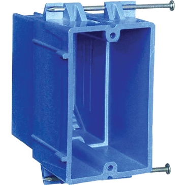 Thomas & Betts PVC Outlet Boxes Single Gang Switch Box B118B-UPC