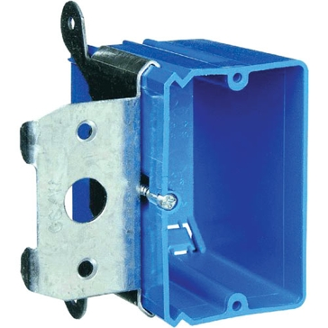 Thomas & Betts PVC Outlet Box 21cu 1G Wall Box Single Gang B121ADJ