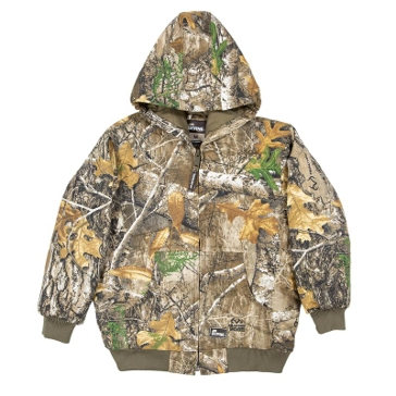 Berne Youth RT Edge Camo Youth Insulated Hooded Jacket GBJ51