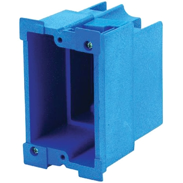 Thomas & Betts PVC Outlet Boxes 18cu Single Gang BH118R
