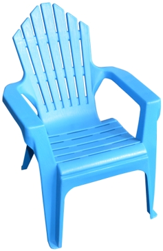 Gracious Living Adirondack Kids Chair Island Blue