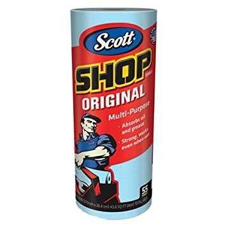 Scott Blue Paper Shop Towels 55ct  75130