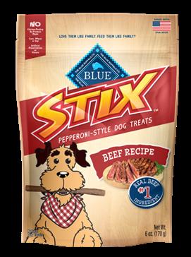 BLUE Stix Beef Recipe Dog Treats 6oz