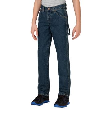 Dickies Boys' Relaxed Fit Straight Leg Denim Carpenter Jeans
