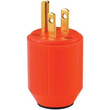 Cooper Orange Cord Plug BP3867-4RN
