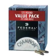 Federal .22 LR Ammunition - 525 Round