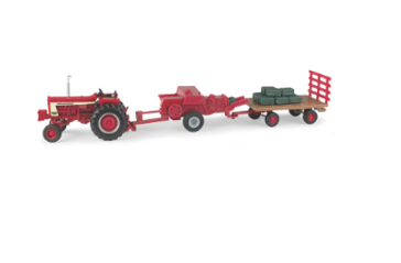 Case IH Die-Cast Hay Set