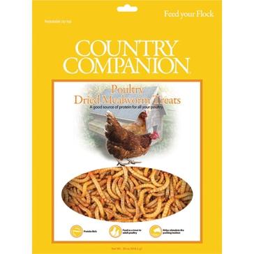 Country Companion Mealworm Chicken Treats 30oz